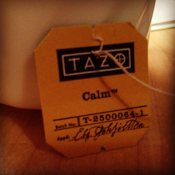 'Calm' down with Tazo's relaxation tea