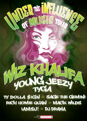 Wiz Khalifa and Young Jeezy headline 'Under the Influence of Music' tour