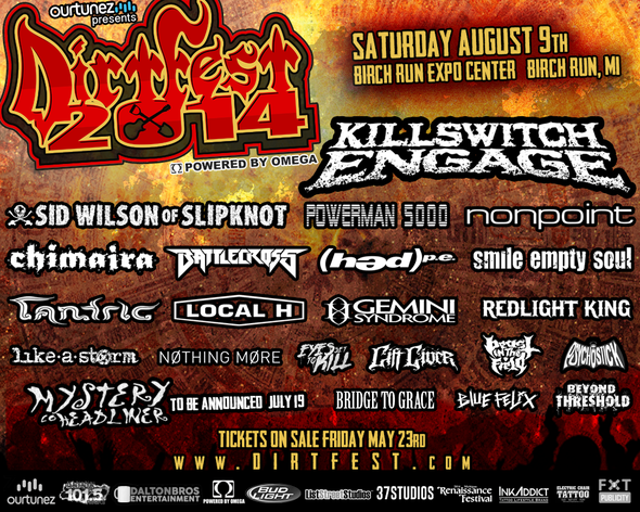 Killswitch Engage, Sid Wilson, Powerman 5000 to headline this summer's Dirt Fest