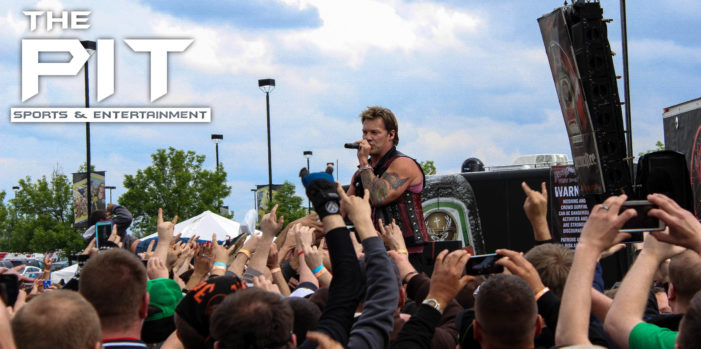 Fozzy commands the crowd at Rock On The Range