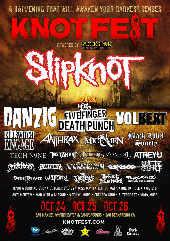 Slipknot bringing 'Knotfest' back  this October