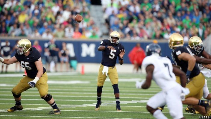 Golson shines in return as Notre Dame beats rice, 48-17