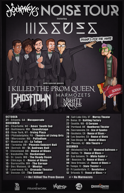 Issues to embark on 'Journeys' Noise Tour' this Fall