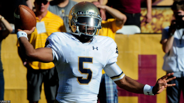 Notre Dame's dreams dashed by Arizona State, 55-31