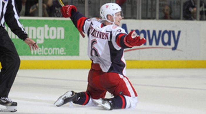 Pulkkinen's hat trick lifts Griffins over IceHogs