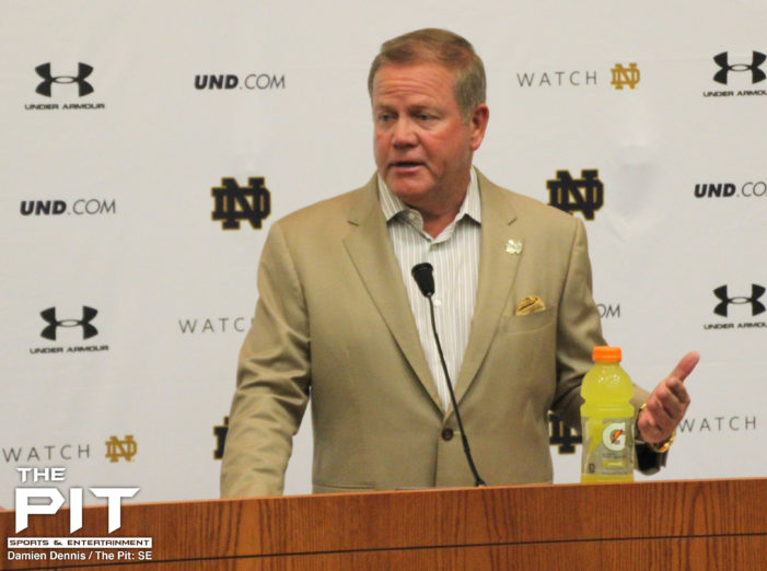Football is back! Notre Dame opens fall training with press conference at 'The Gug'