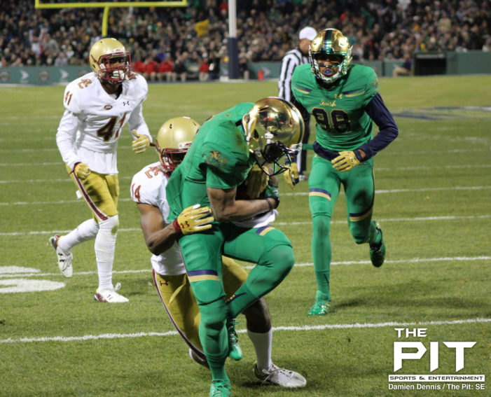 No. 4 Notre Dame squeak by Boston College's top-rated defense