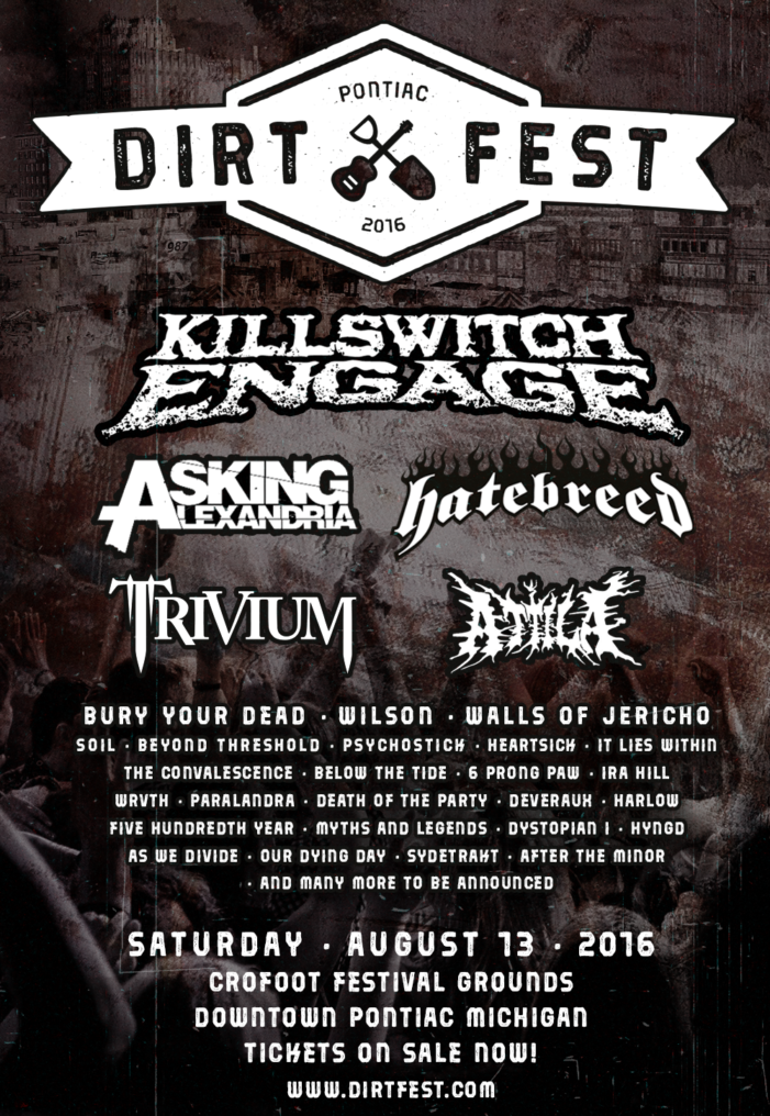 Killswitch Engage to headline Dirt Fest's first year in move to Pontiac