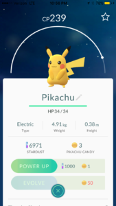 The Pit's overlord – Damien Dennis – caught a Pikachu very early in the release. Pikachu is one of the most popular Pokémon to date.