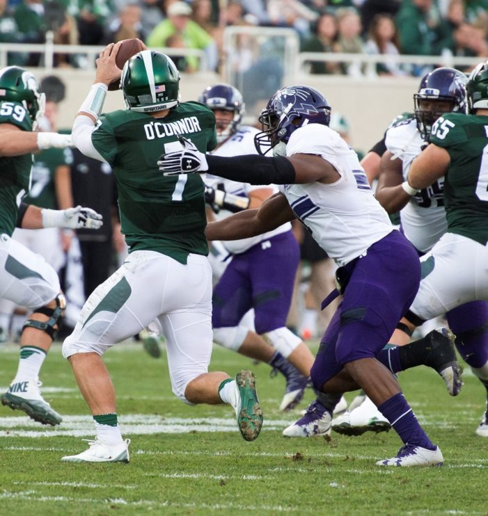 Northwestern throttles Michigan State 54-40
