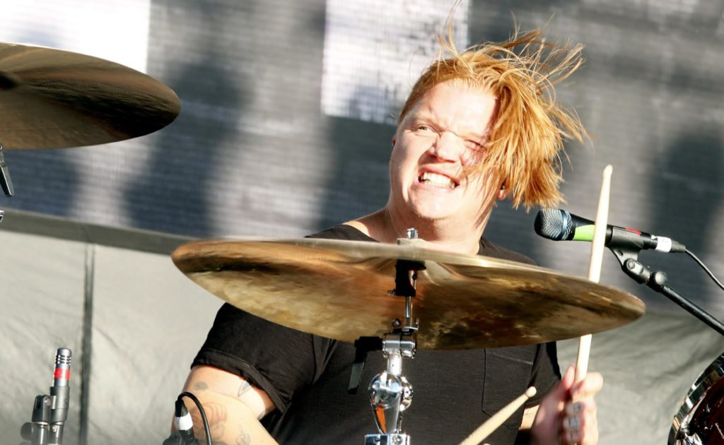 Aaron Gillespie, shown here drumming for Underoath during Riot Fest in 2016, released Out Of The Badlands last month, and it puts a new twist on old songs. Evan J. Thomas/The Pit