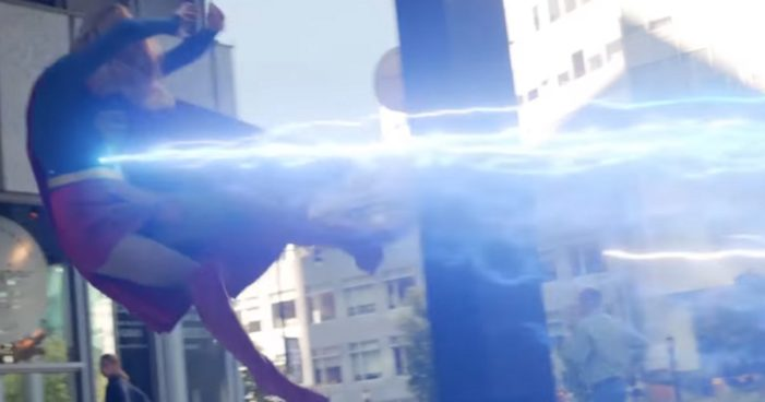 Supergirl caught in a crossfire this past week