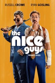 Ryan Gosling flanks Russell Crowe on promotional material for The Nice Guys. Photo/Pretty Famous