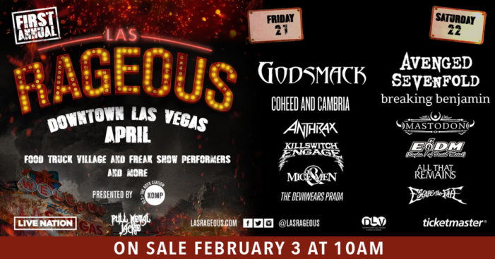 Avenged Sevenfold, Godsmack and more to play Las Rageous