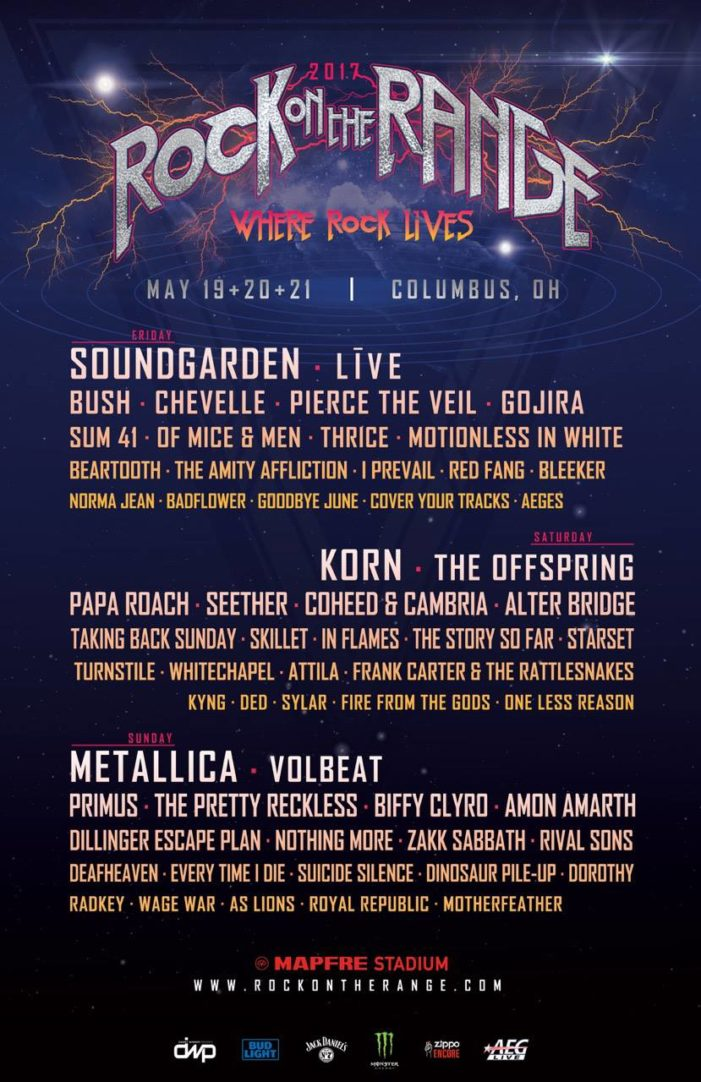 Daily lineups announced for Rock On The Range