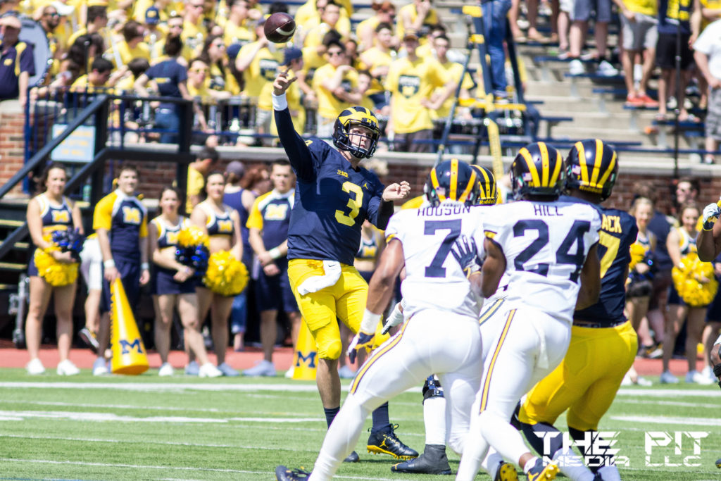 The Michigan football spring game took place Saturday, showcasing the talent the Wolverines have for the 2017 season. Kyle Macdonald/The Pit