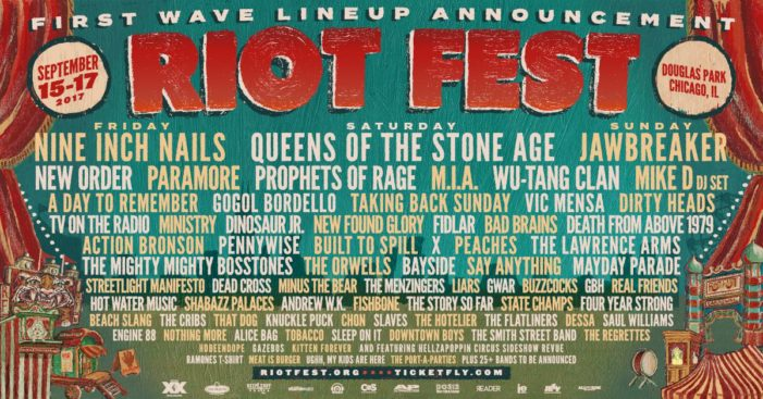 First wave of bands announced for Riot Fest