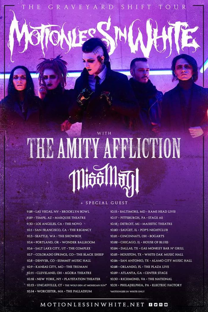 Motionless In White bring some friends on their Graveyard Shift Tour this Fall