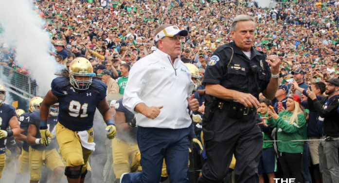 Brian Kelly optimistic entering fall camps