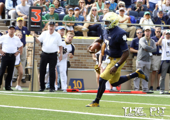 Irish capitalize on Michigan State miscues in 38-18 victory
