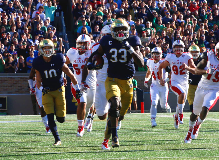 No. 22 Notre Dame Drops 52 In Rout of Miami (Ohio)