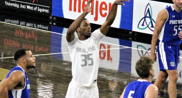 Oakland survives in overtime at Oral Roberts behind Martez Walker's career-high 32 points