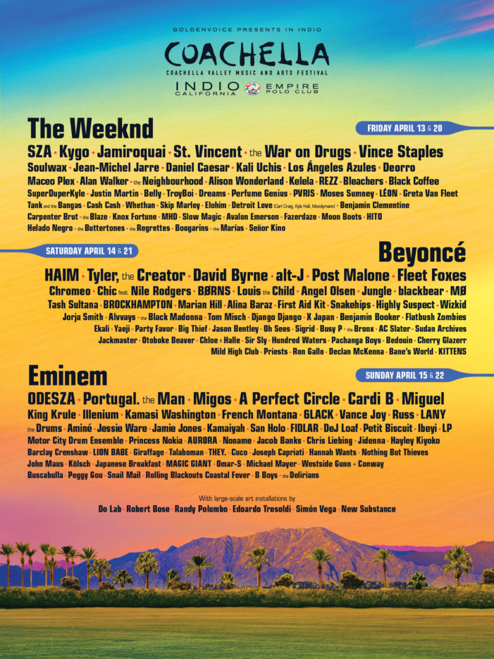 2018 will be Coachella's first year without a rock headliner