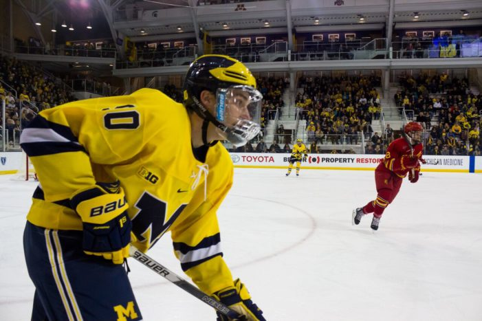 Michigan Splits Weekend Series With Ferris State; Marody, Dancs Extend Point Streak to Four Straight